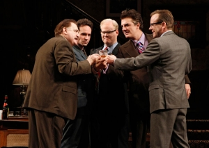Brian Cox, Jason Patric, Jim Gaffigan, Chris Noth and Keifer Sutherland (l-r)