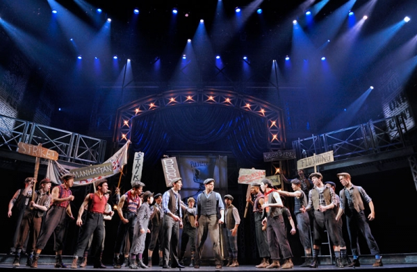 Jeremy Jordan and the Company of NEWSIES