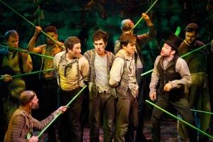 The Cast of PETER AND THE STARCATCHER at New York Theatre Workshop