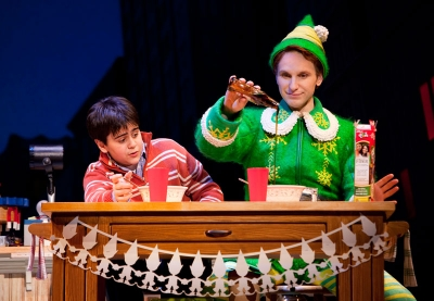 Matthew Gumley (l) and Sebastian Arcelus in ELF