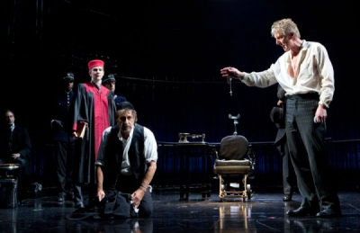 Lily Rabe, Al Pacino and Byron Jennings in THE MERCHANT OF VENICE
