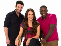 Colin Donnell, Sutton Foster, Joshua Henry (l-r)