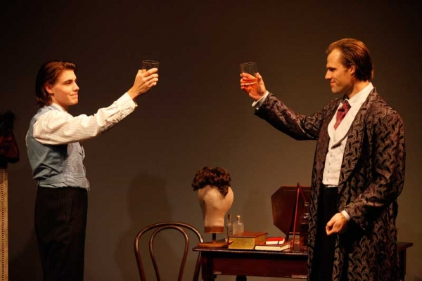 Andrew Veenstra as John Wilkes Booth and Erik Heger as  Edwin Booth in AN ERROR OF THE MOON