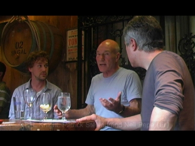 T.R. Knight, Patrick Stewart and Neil Pepe (l-r) Discuss A LIFE IN THE THEATRE