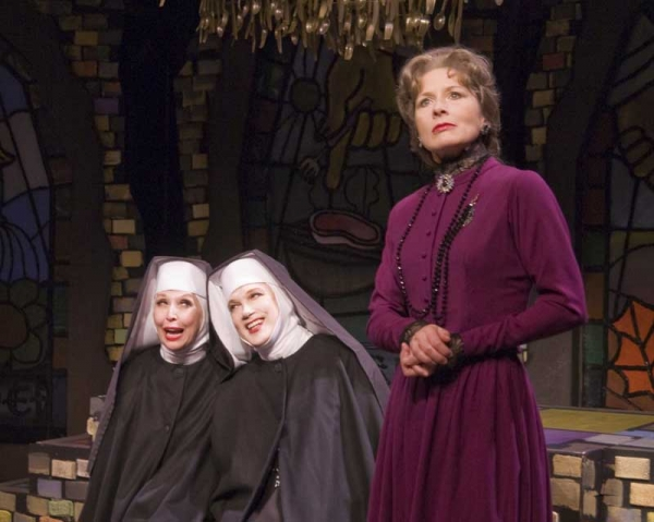 Julie Halston, Charles Busch and Jennifer Van Dyck (l-r)  in THE DIVINE SISTER