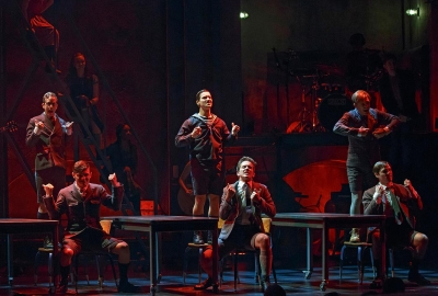 Austin P. McKenzie (c) and the Cast of SPRING AWAKENING