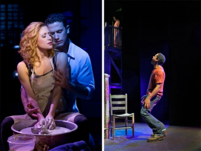 Richard Fleishman and Caissie Levy in GHOST (Left) and Blair Underwood in A STREETCAR NAMED DESIRE